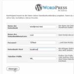 Wordpress selbst installieren mit portable XAMPP
